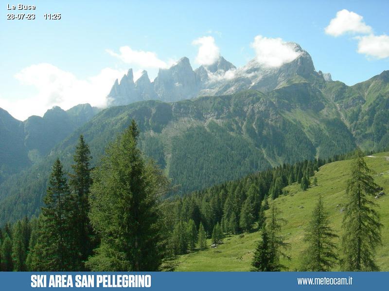 Webcam Pista Variante Caviazza, Le Buse - Falcade, Dolomiti Superski